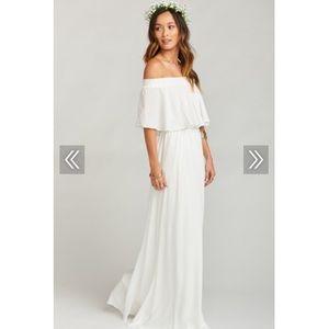 SHOW ME YOUR MUMU white maxi dress